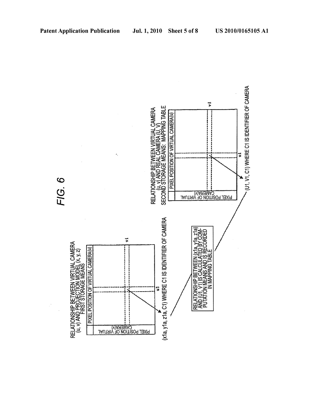 VEHICLE-INSTALLED IMAGE PROCESSING APPARATUS AND EYE POINT CONVERSION INFORMATION GENERATION METHOD - diagram, schematic, and image 06