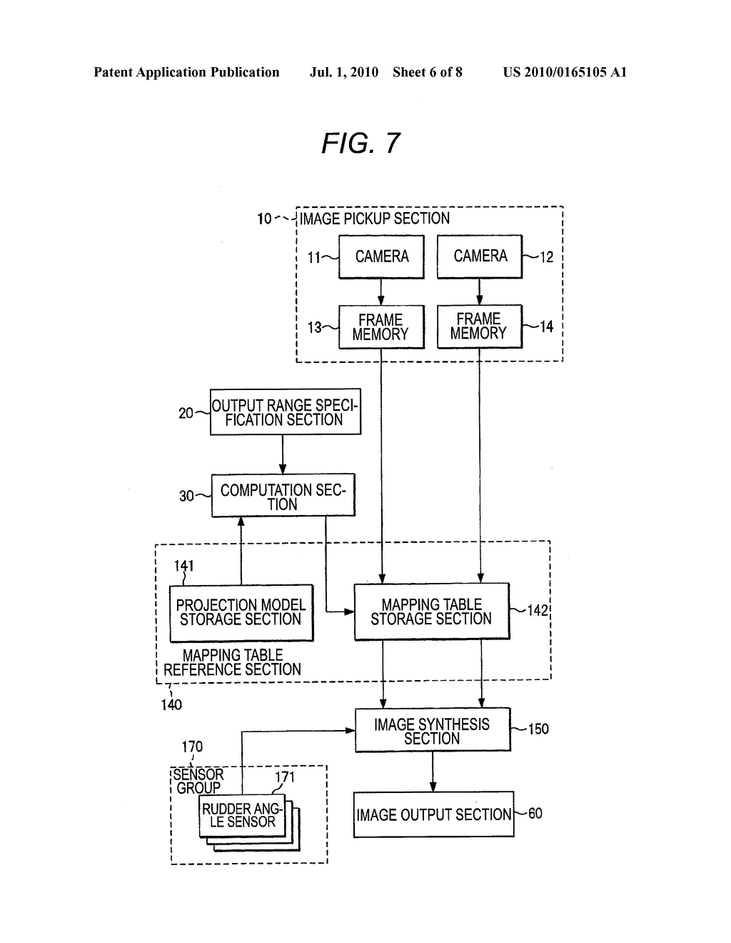 VEHICLE-INSTALLED IMAGE PROCESSING APPARATUS AND EYE POINT CONVERSION INFORMATION GENERATION METHOD - diagram, schematic, and image 07