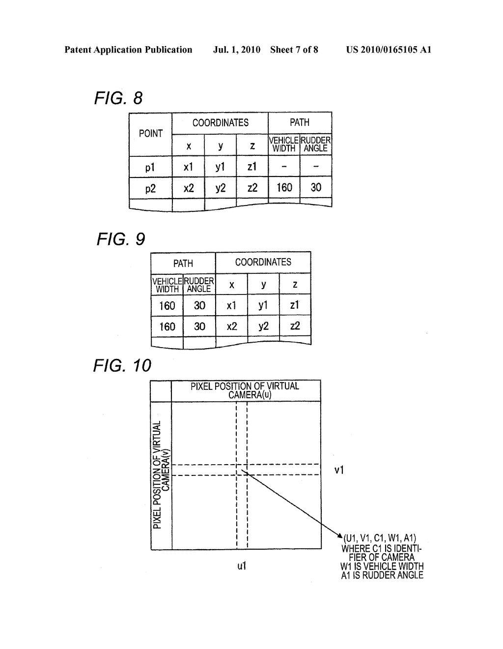 VEHICLE-INSTALLED IMAGE PROCESSING APPARATUS AND EYE POINT CONVERSION INFORMATION GENERATION METHOD - diagram, schematic, and image 08
