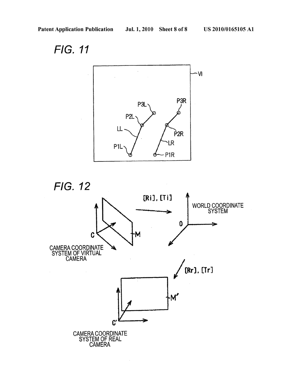 VEHICLE-INSTALLED IMAGE PROCESSING APPARATUS AND EYE POINT CONVERSION INFORMATION GENERATION METHOD - diagram, schematic, and image 09