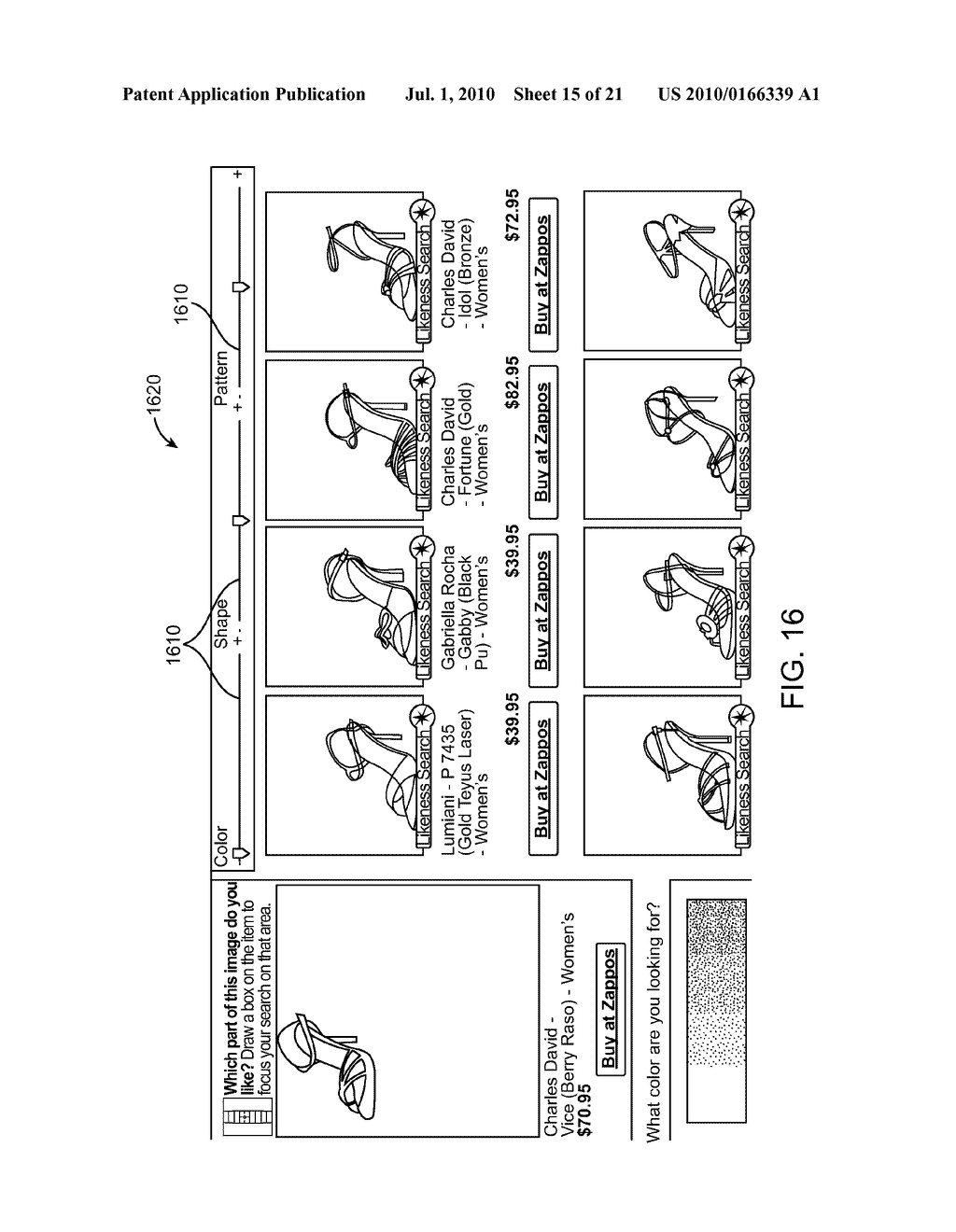 SYSTEM AND METHOD FOR ENABLING IMAGE RECOGNITION AND SEARCHING OF IMAGES - diagram, schematic, and image 16