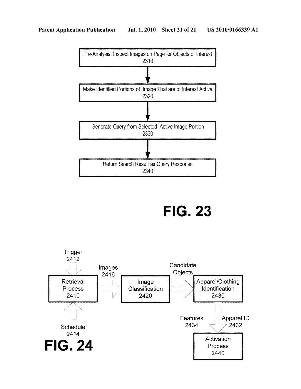SYSTEM AND METHOD FOR ENABLING IMAGE RECOGNITION AND SEARCHING OF IMAGES - diagram, schematic, and image 22