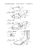 Shoe construction with attachable components diagram and image