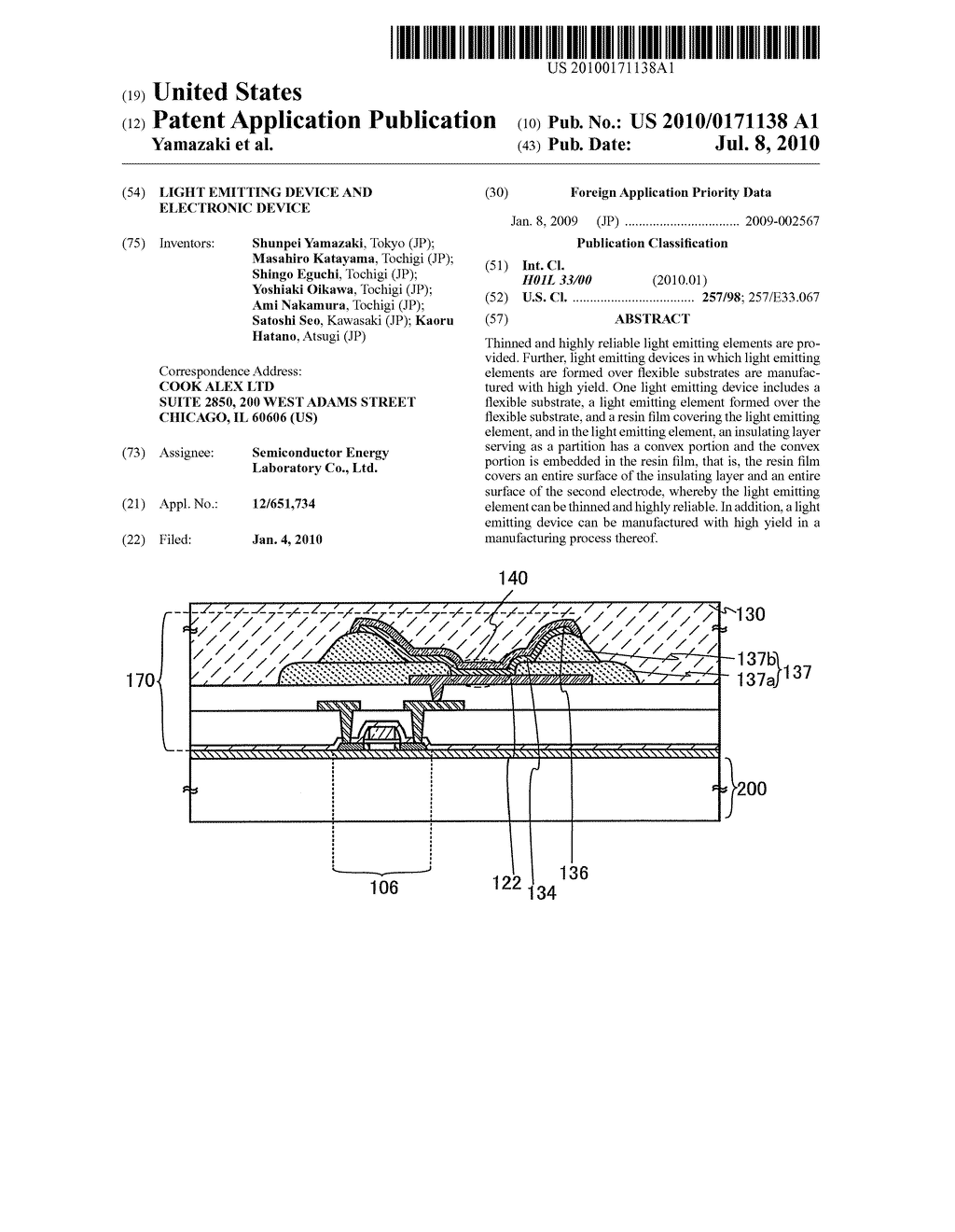 Light Emitting Device and Electronic Device - diagram, schematic, and image 01