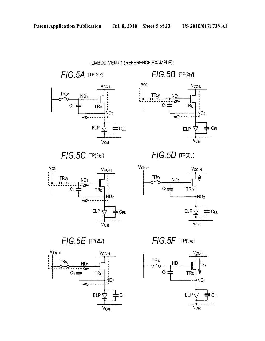 Driving method of organic electroluminescence emission part - diagram, schematic, and image 06