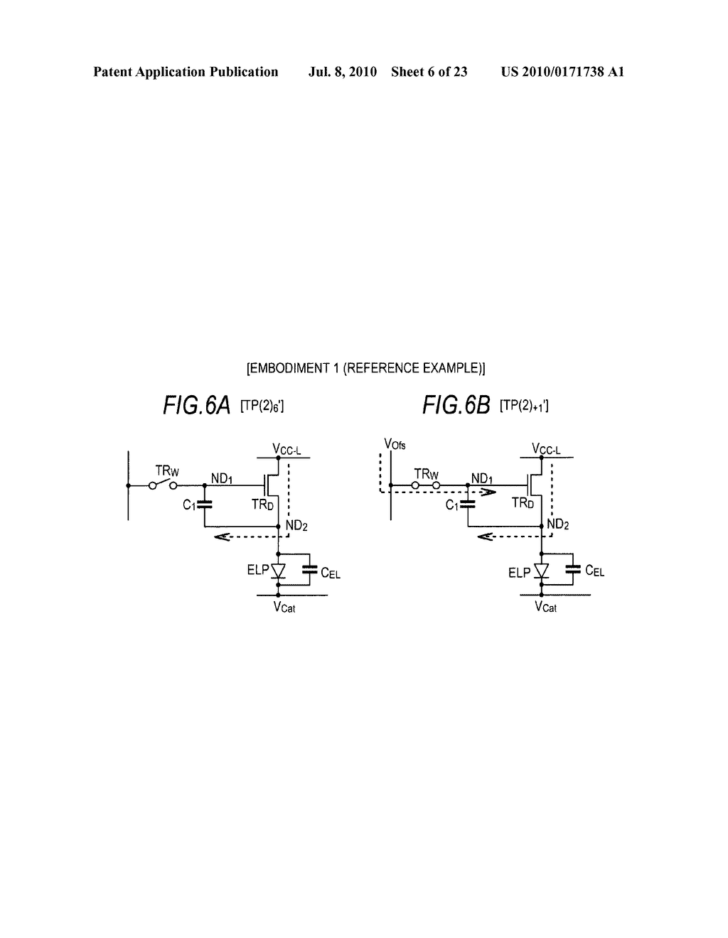 Driving method of organic electroluminescence emission part - diagram, schematic, and image 07