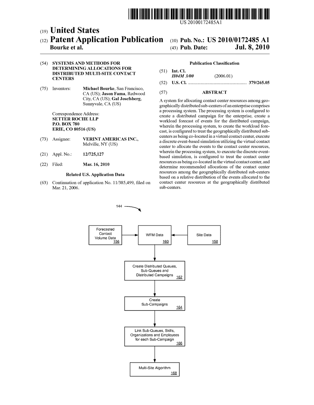SYSTEMS AND METHODS FOR DETERMINING ALLOCATIONS FOR DISTRIBUTED MULTI-SITE CONTACT CENTERS - diagram, schematic, and image 01