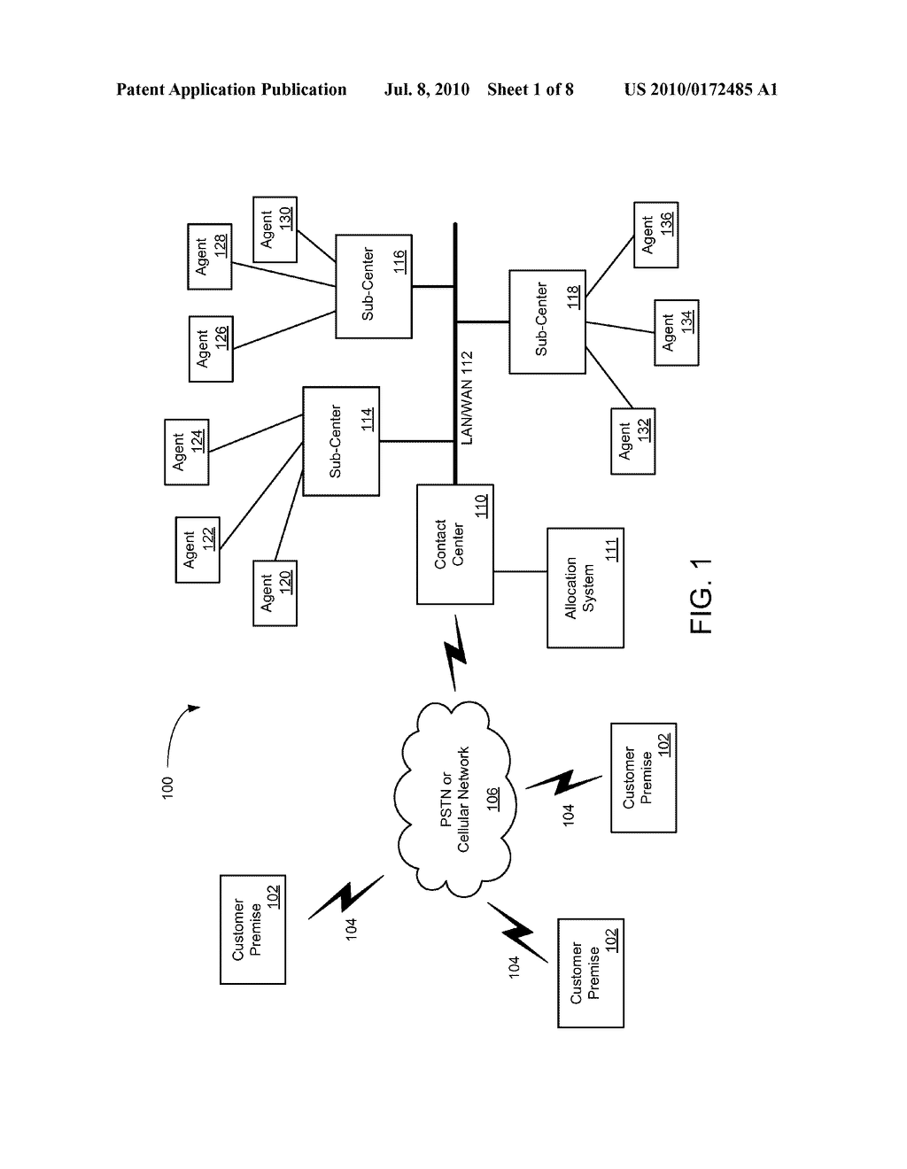 SYSTEMS AND METHODS FOR DETERMINING ALLOCATIONS FOR DISTRIBUTED MULTI-SITE CONTACT CENTERS - diagram, schematic, and image 02