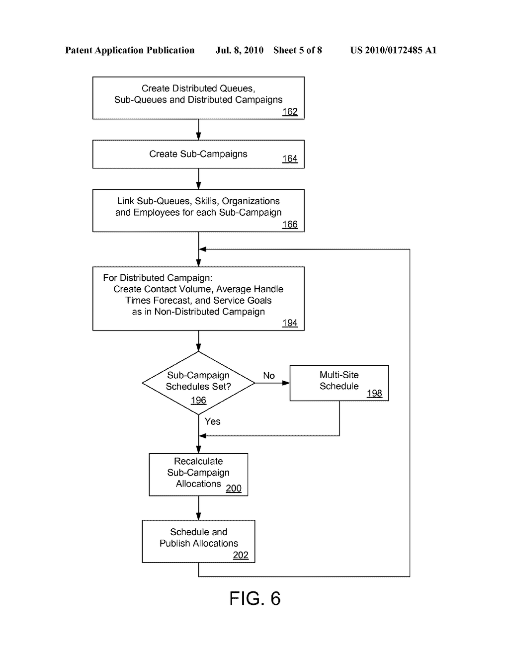 SYSTEMS AND METHODS FOR DETERMINING ALLOCATIONS FOR DISTRIBUTED MULTI-SITE CONTACT CENTERS - diagram, schematic, and image 06