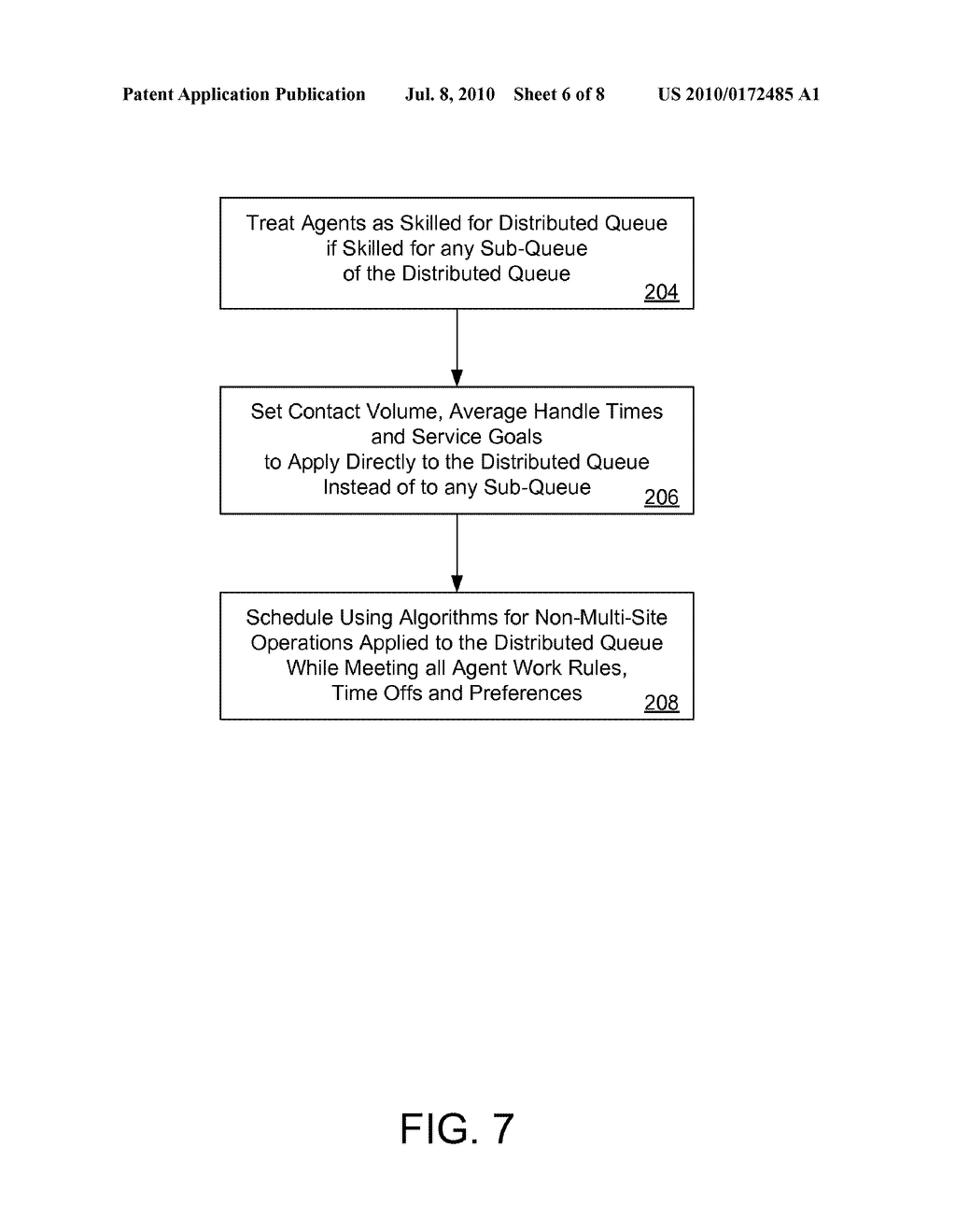 SYSTEMS AND METHODS FOR DETERMINING ALLOCATIONS FOR DISTRIBUTED MULTI-SITE CONTACT CENTERS - diagram, schematic, and image 07