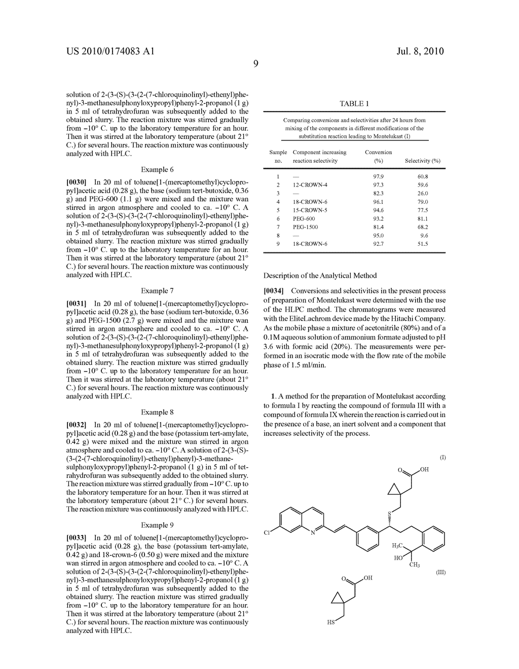 METHOD FOR THE PREPARATION OF MONTELUKAST - diagram, schematic, and image 12