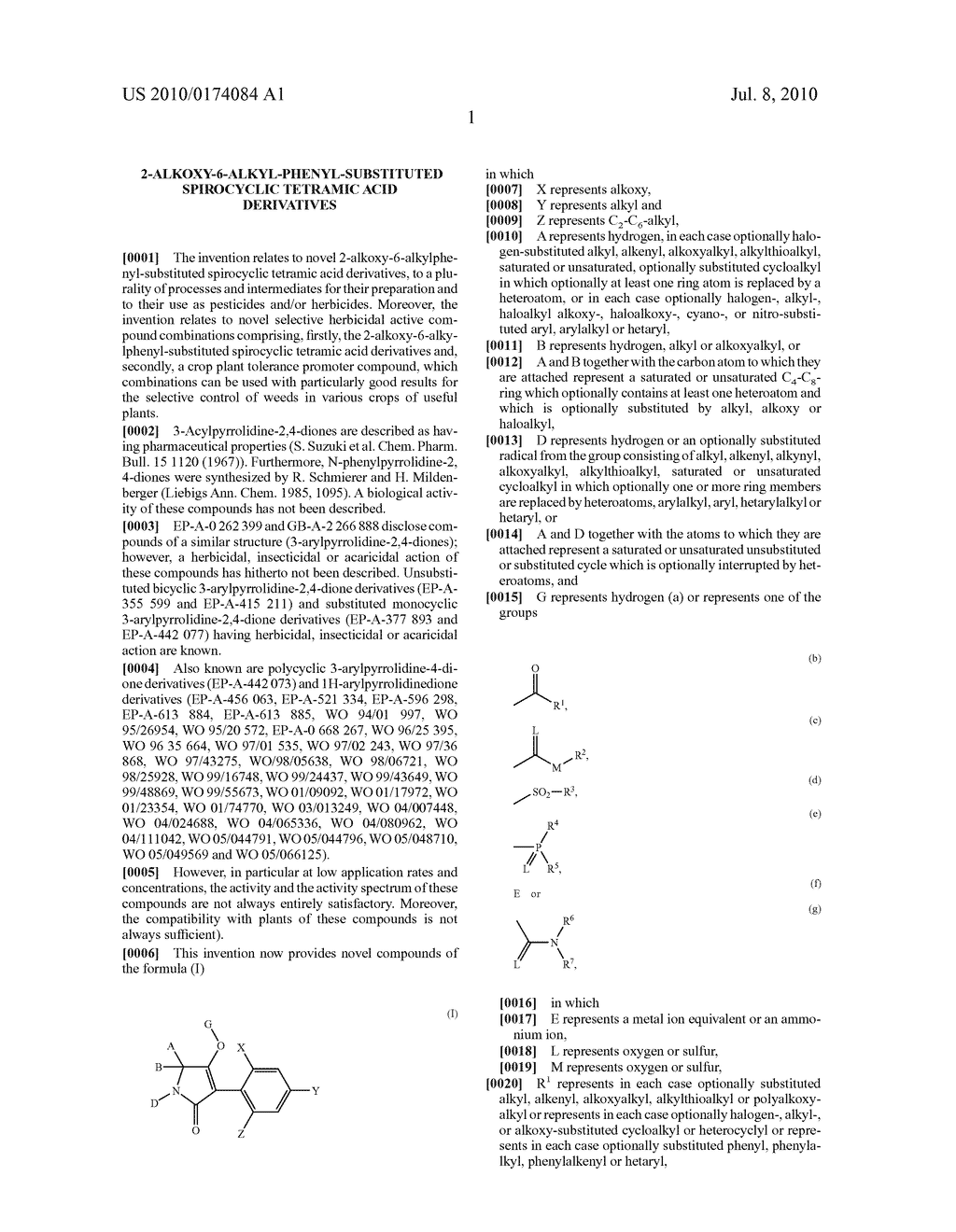 2-Alkoxy-6-alkyl-phenyl-substituted Spirocyclic Tetramic Acid Derivatives - diagram, schematic, and image 02
