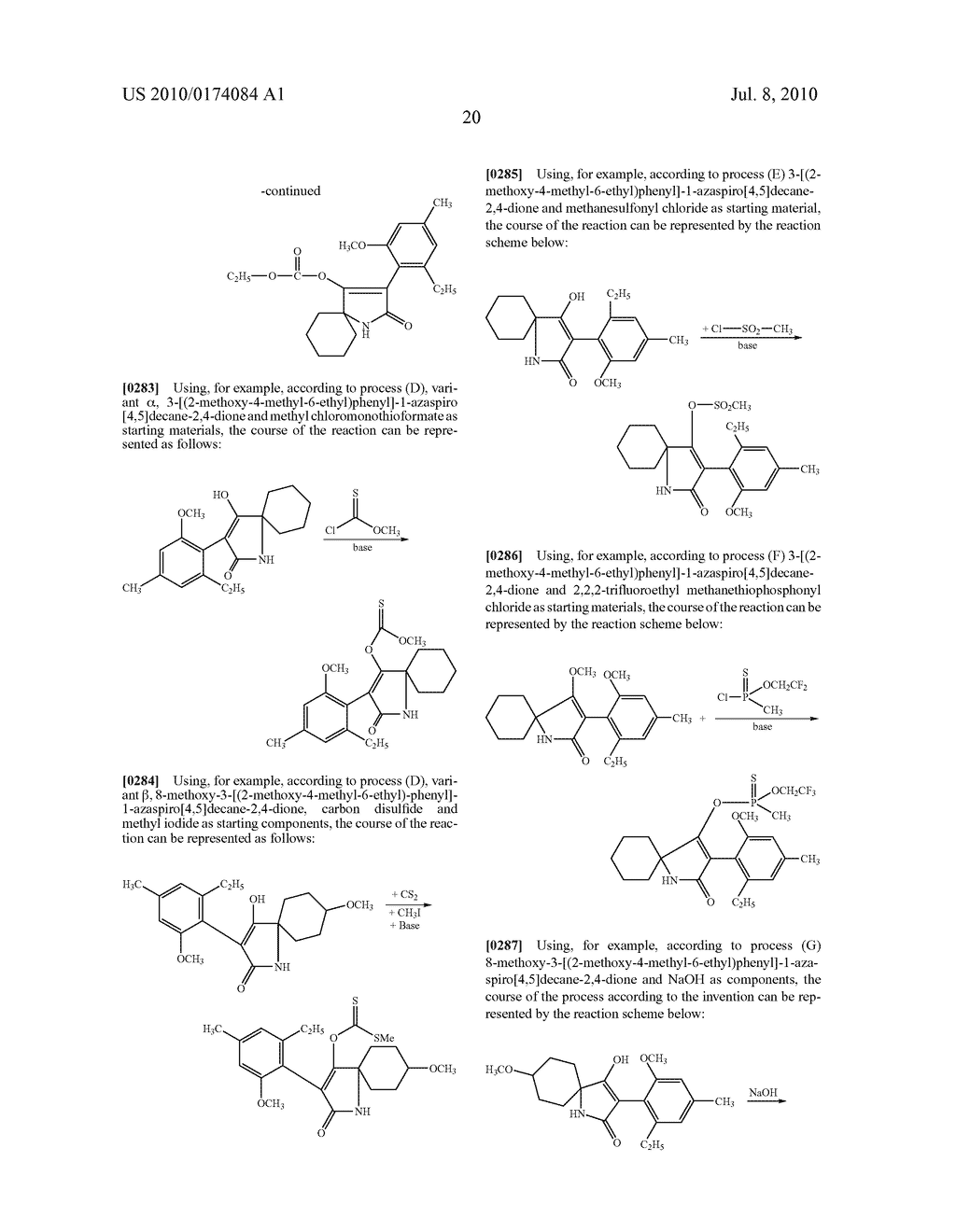 2-Alkoxy-6-alkyl-phenyl-substituted Spirocyclic Tetramic Acid Derivatives - diagram, schematic, and image 21