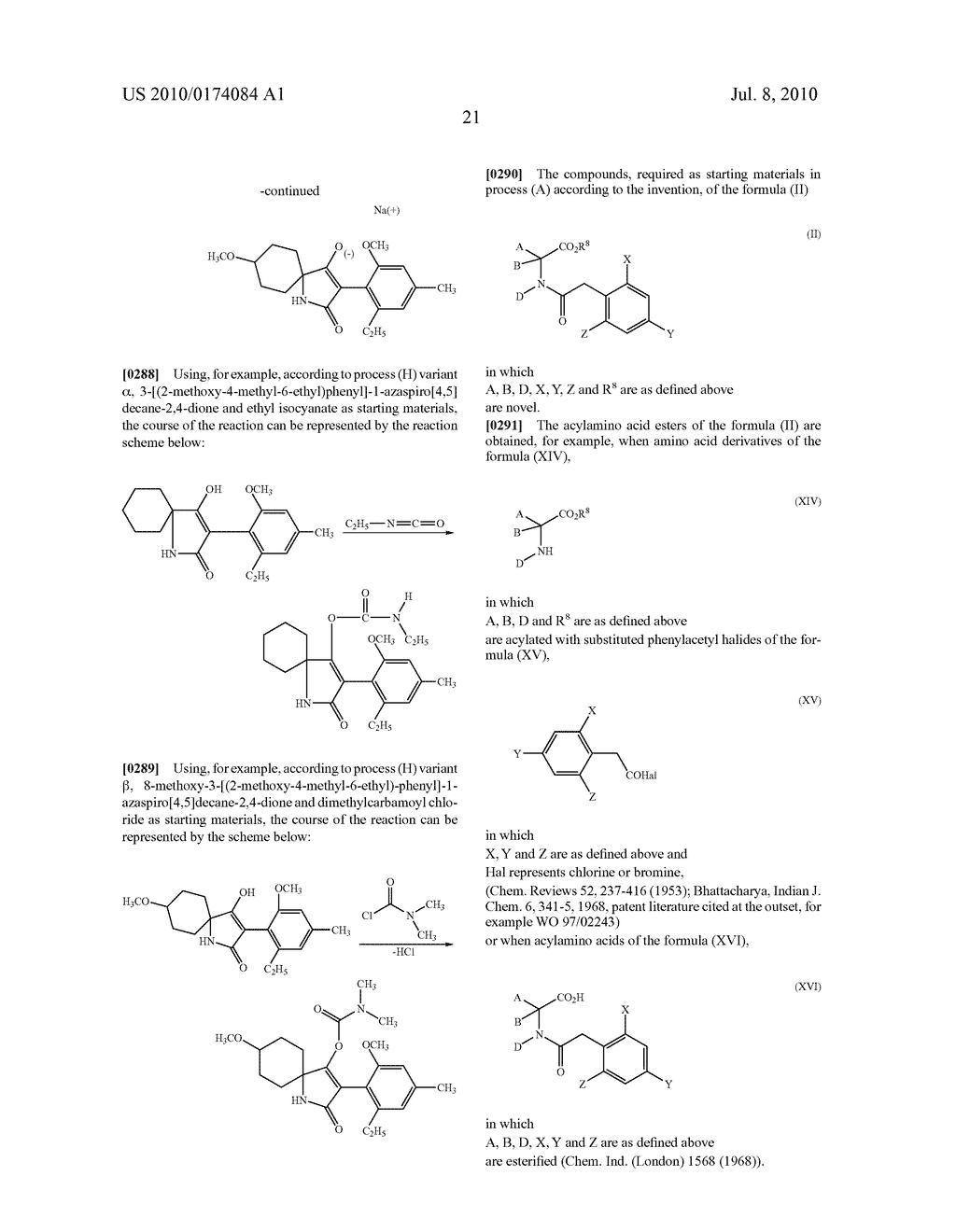 2-Alkoxy-6-alkyl-phenyl-substituted Spirocyclic Tetramic Acid Derivatives - diagram, schematic, and image 22