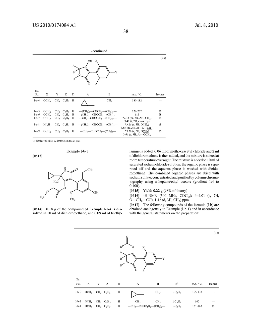 2-Alkoxy-6-alkyl-phenyl-substituted Spirocyclic Tetramic Acid Derivatives - diagram, schematic, and image 39
