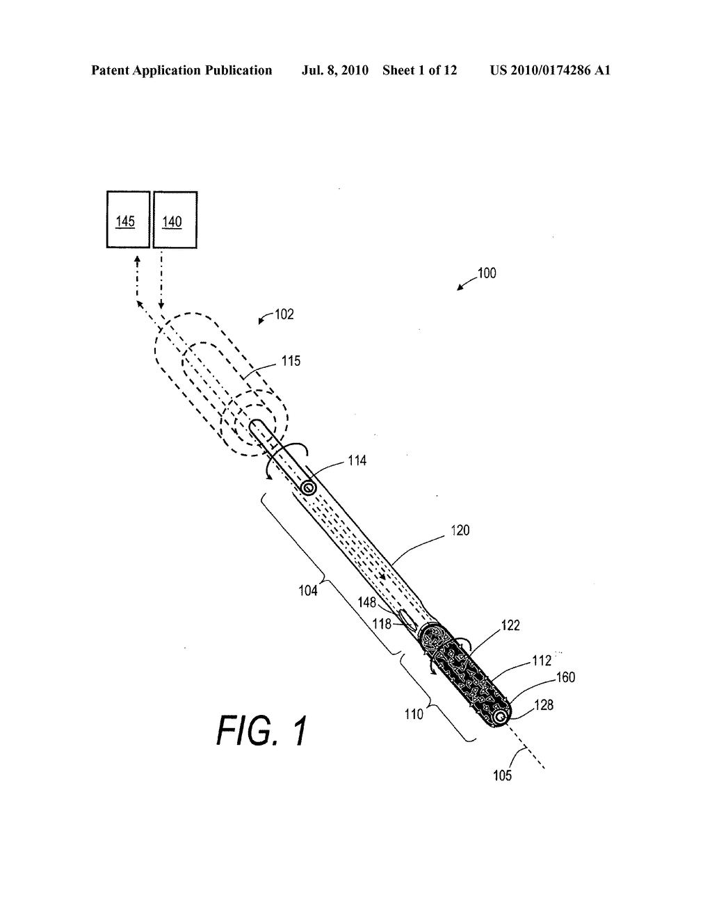 BONE TREATMENT SYSTEMS AND METHODS FOR INTRODUCING AN ABRADING STRUCTURE TO ABRADE BONE - diagram, schematic, and image 02