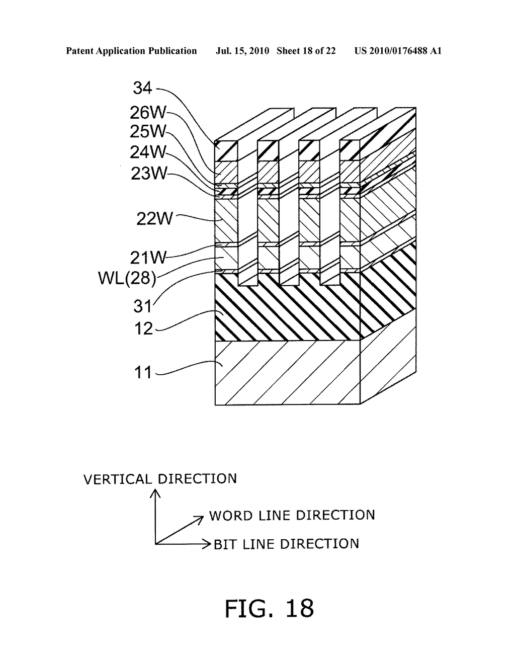 SEMICONDUCTOR MEMORY DEVICE AND METHOD FOR MANUFACTURING SAME - diagram, schematic, and image 19