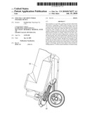 Golf Bag Cart Front Wheel Foldable Device diagram and image