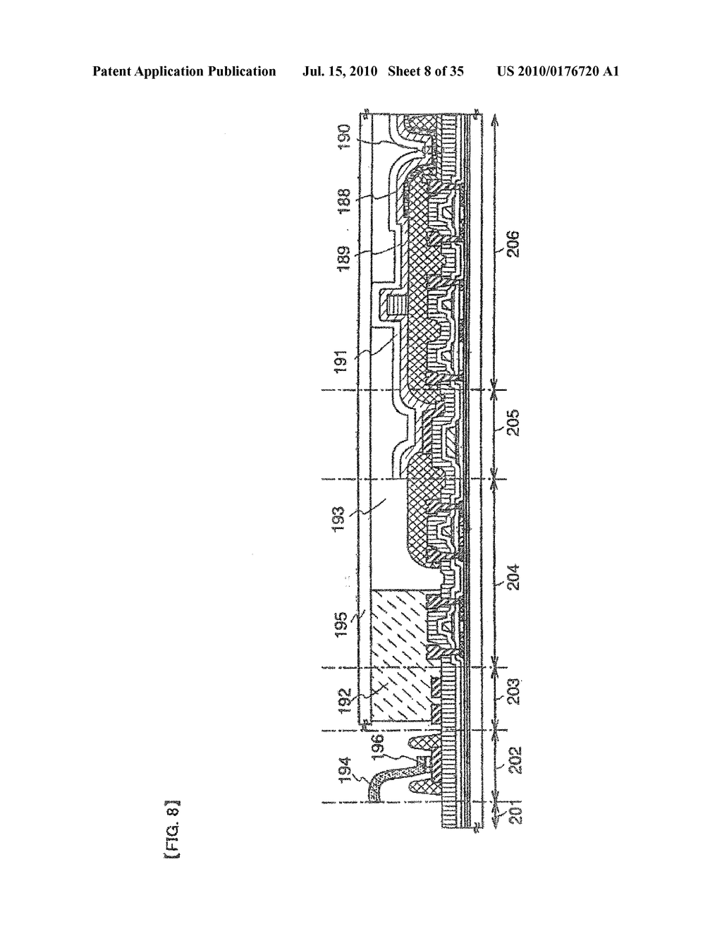 DISPLAY DEVICE, ELECTRONIC APPARATUS, AND METHOD OF FABRICATING THE DISPLAY DEVICE - diagram, schematic, and image 09
