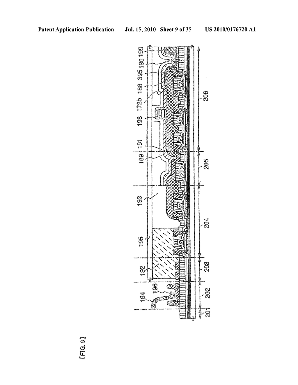 DISPLAY DEVICE, ELECTRONIC APPARATUS, AND METHOD OF FABRICATING THE DISPLAY DEVICE - diagram, schematic, and image 10