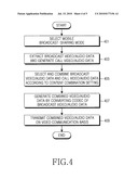 Method and apparatus for sharing mobile broadcast service diagram and image