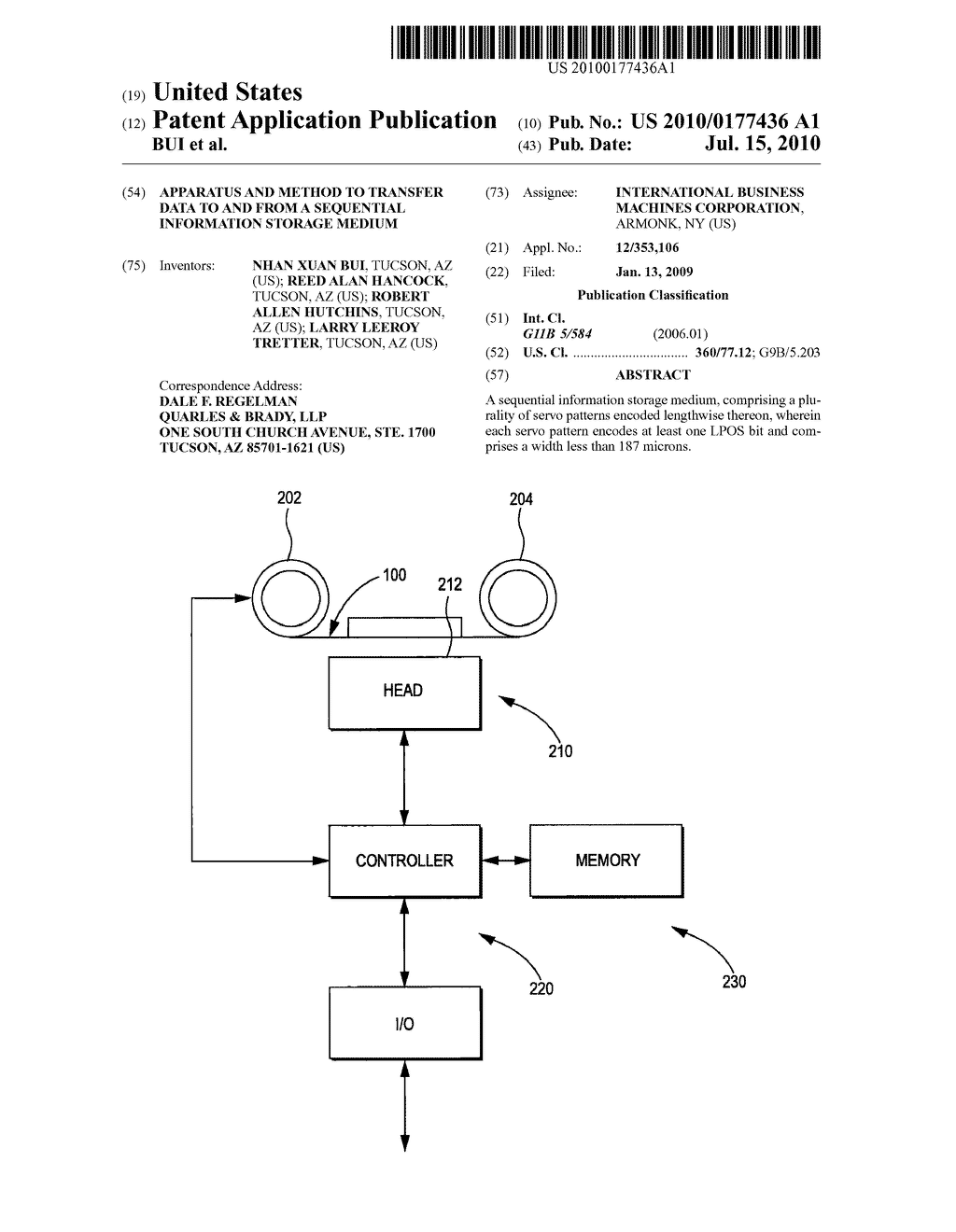APPARATUS AND METHOD TO TRANSFER DATA TO AND FROM A SEQUENTIAL INFORMATION STORAGE MEDIUM - diagram, schematic, and image 01