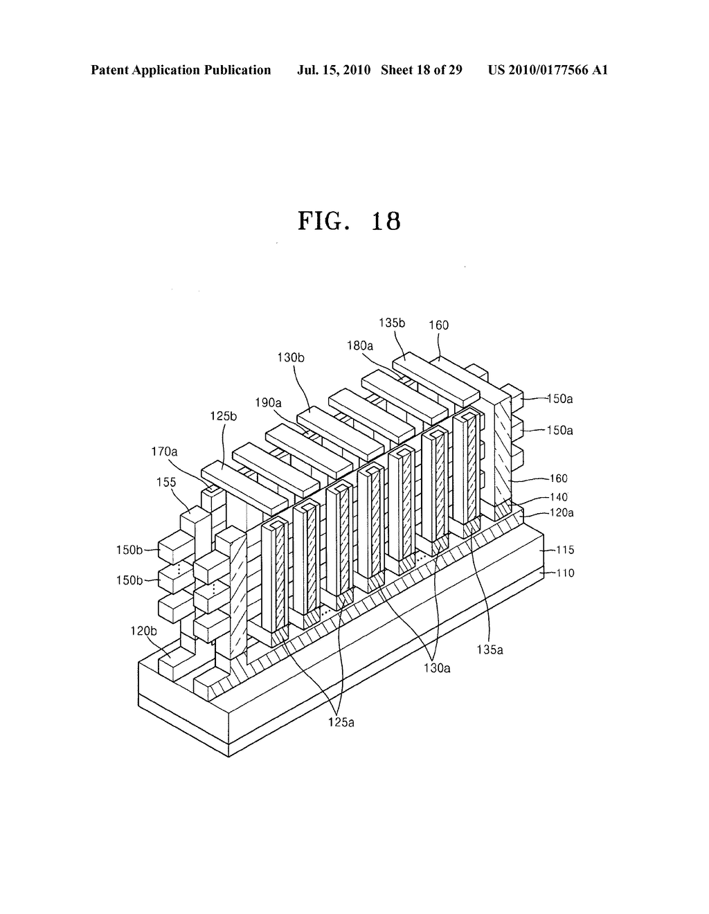 Non-volatile memory device having stacked structure, and memory card and electronic system including the same - diagram, schematic, and image 19