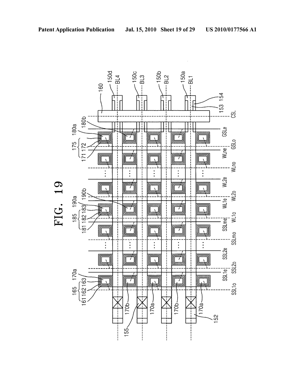 Non-volatile memory device having stacked structure, and memory card and electronic system including the same - diagram, schematic, and image 20
