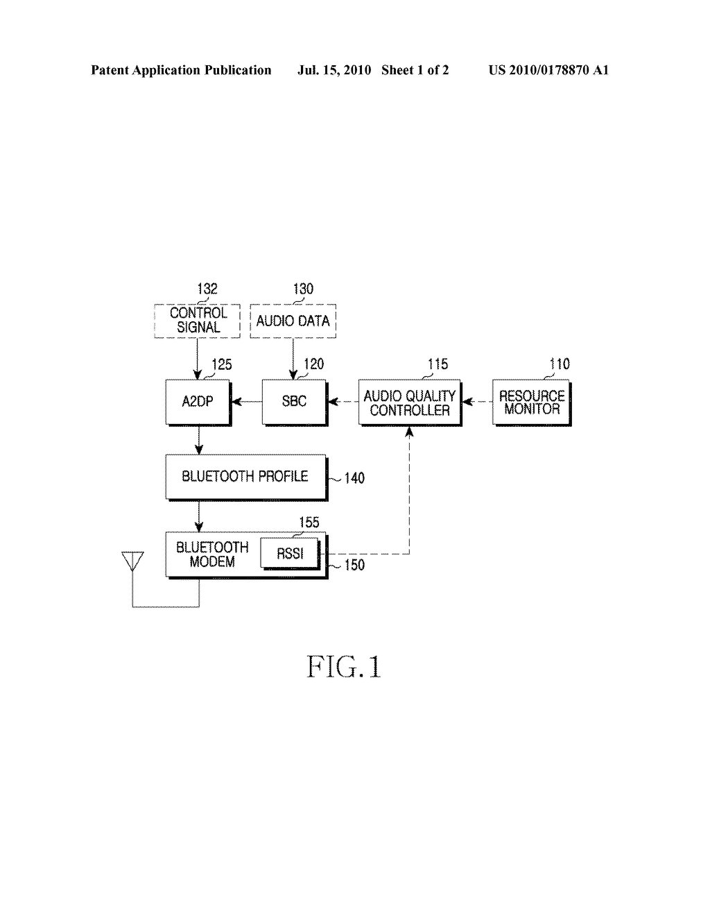 APPARATUS AND METHOD FOR ADAPTIVE AUDIO QUALITY CONTROL USING BLUETOOTH - diagram, schematic, and image 02