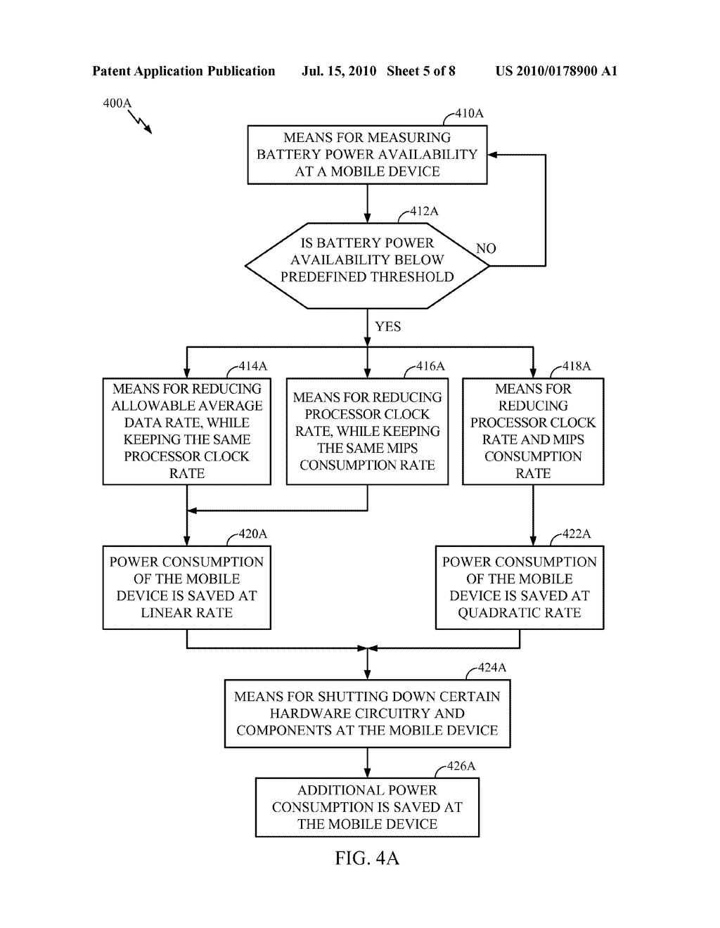 METHODS AND SYSTEMS FOR DYNAMIC SERVICE FLOW USING AVAILABLE BATTERY POWER - diagram, schematic, and image 06