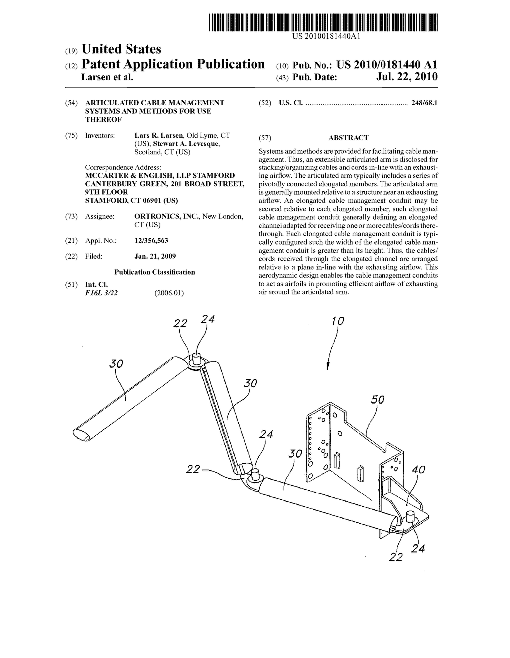 Articulated Cable Management Systems and Methods For Use Thereof - diagram, schematic, and image 01