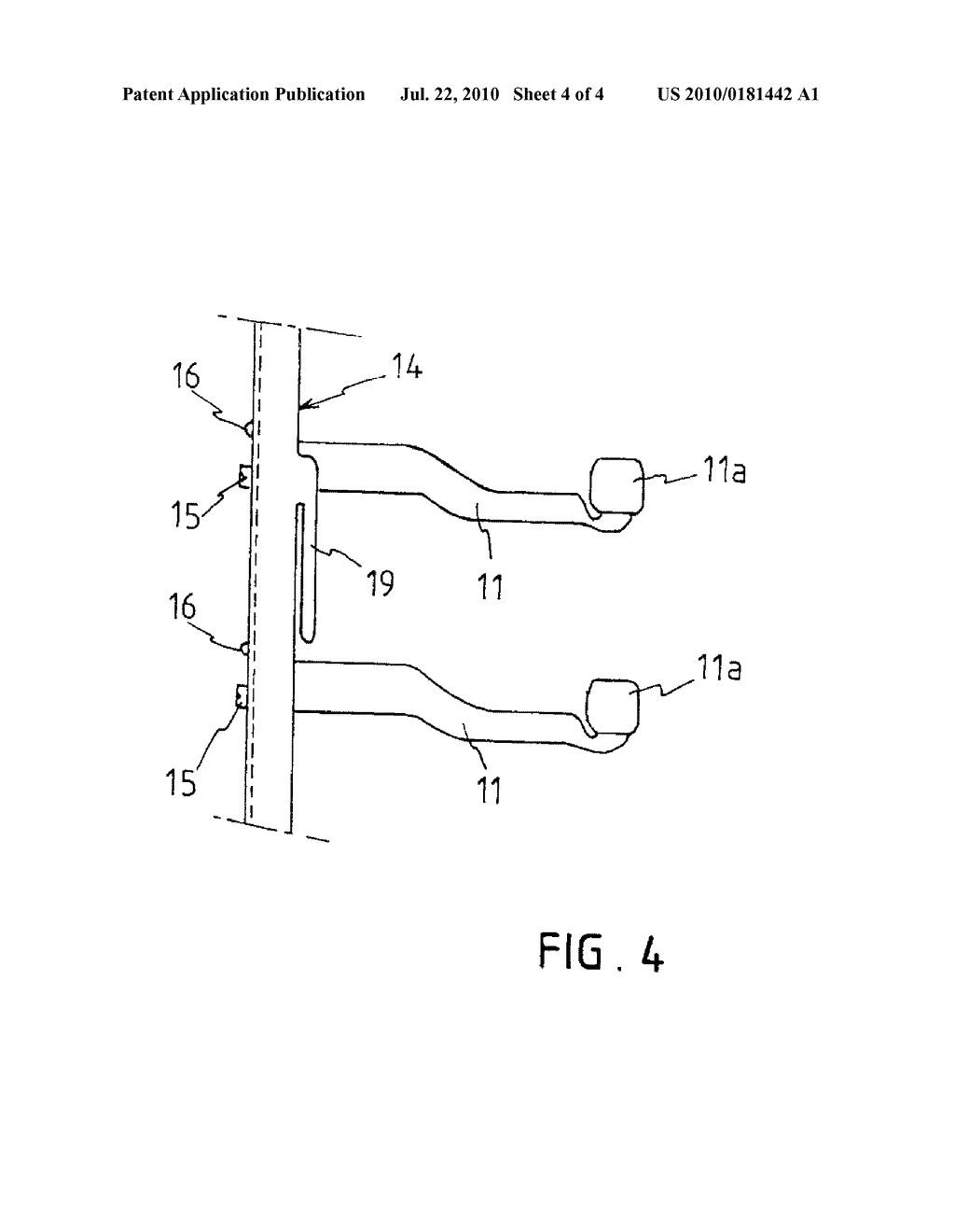 DEVICE FOR PLACING RECEPTACLES, SUCH AS PLATES, PROVIDED WITH A PRODUCT - diagram, schematic, and image 05
