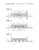MALE SURFACE FASTENER MEMBER FOR USE IN A CUSHION BODY MOLD AND MANUFACTURING METHOD THEREOF diagram and image