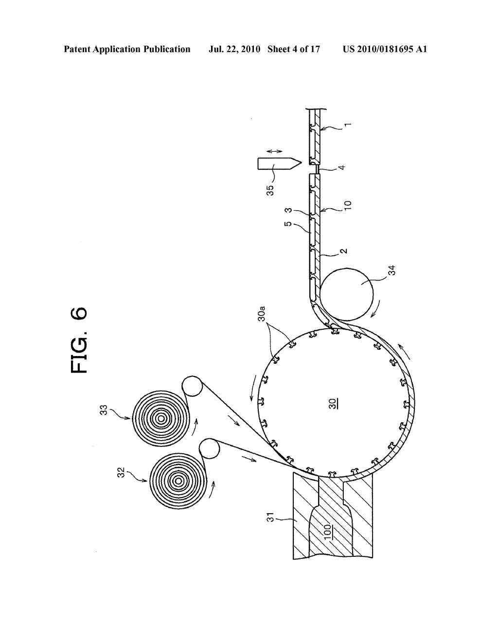MALE SURFACE FASTENER MEMBER FOR USE IN A CUSHION BODY MOLD AND MANUFACTURING METHOD THEREOF - diagram, schematic, and image 05