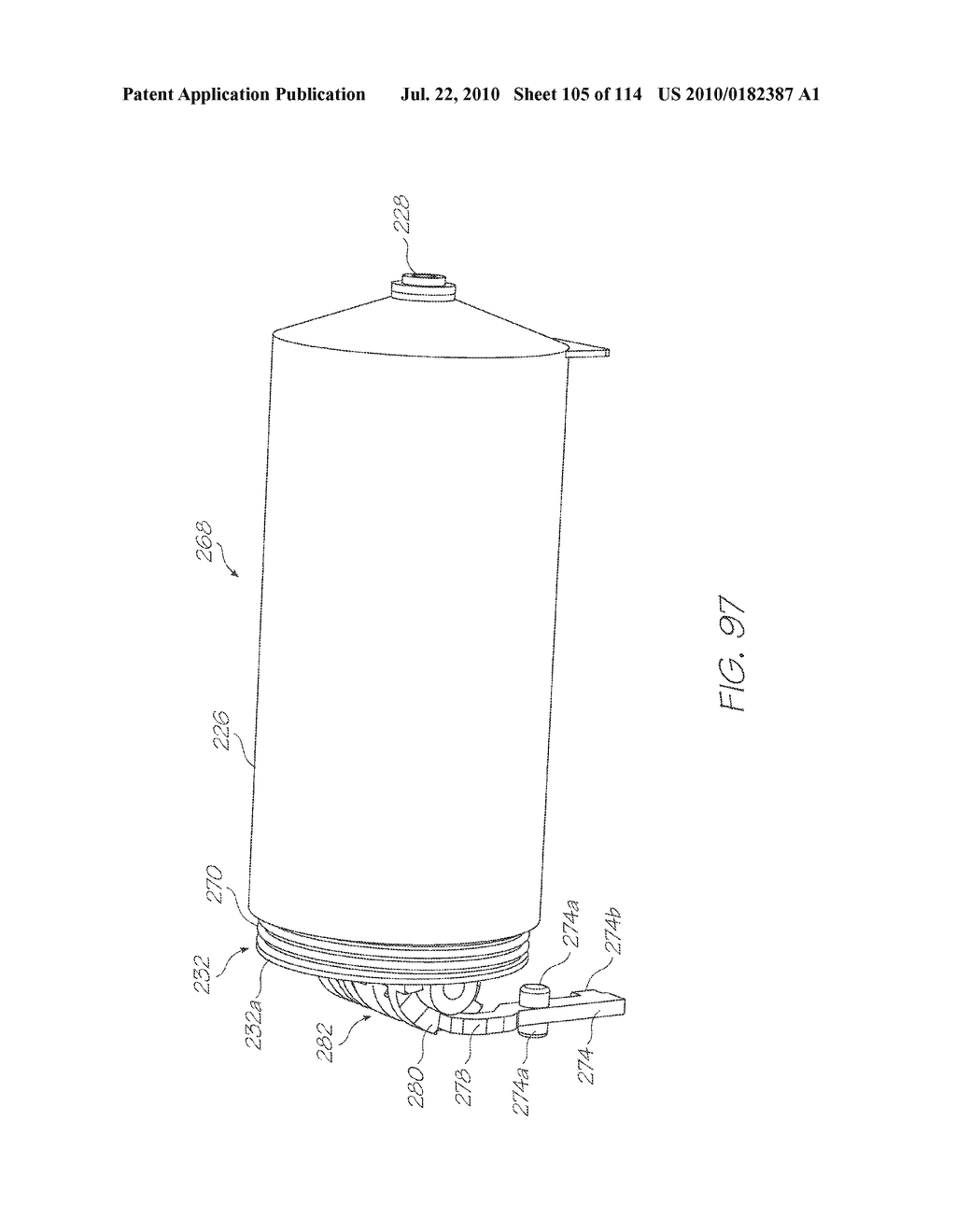 RESERVOIR ASSEMBLY FOR SUPPLYING FLUID TO PRINTHEAD - diagram, schematic, and image 106