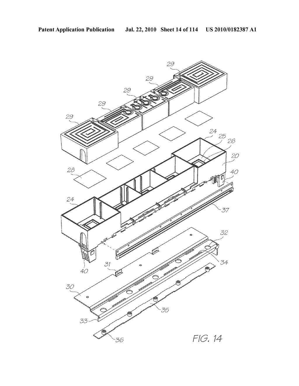 RESERVOIR ASSEMBLY FOR SUPPLYING FLUID TO PRINTHEAD - diagram, schematic, and image 15