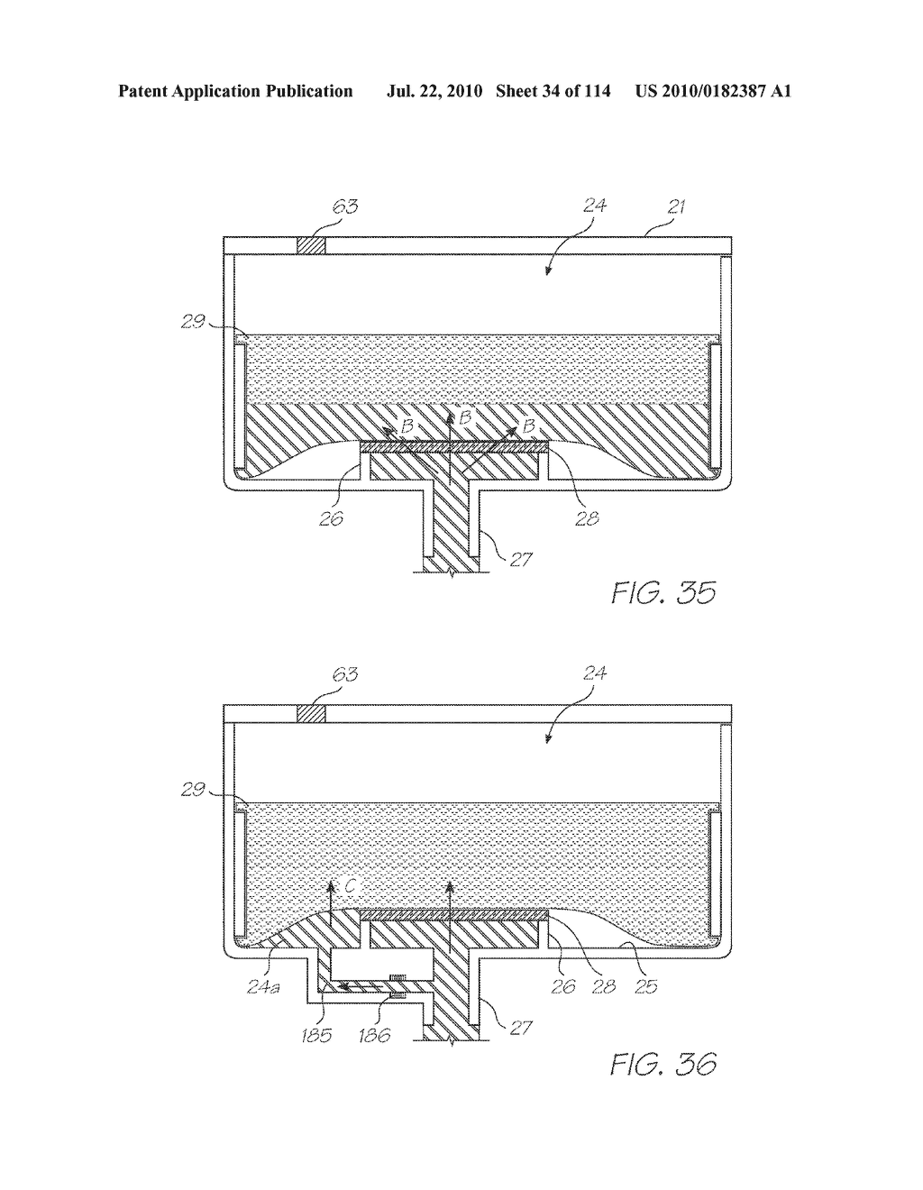 RESERVOIR ASSEMBLY FOR SUPPLYING FLUID TO PRINTHEAD - diagram, schematic, and image 35