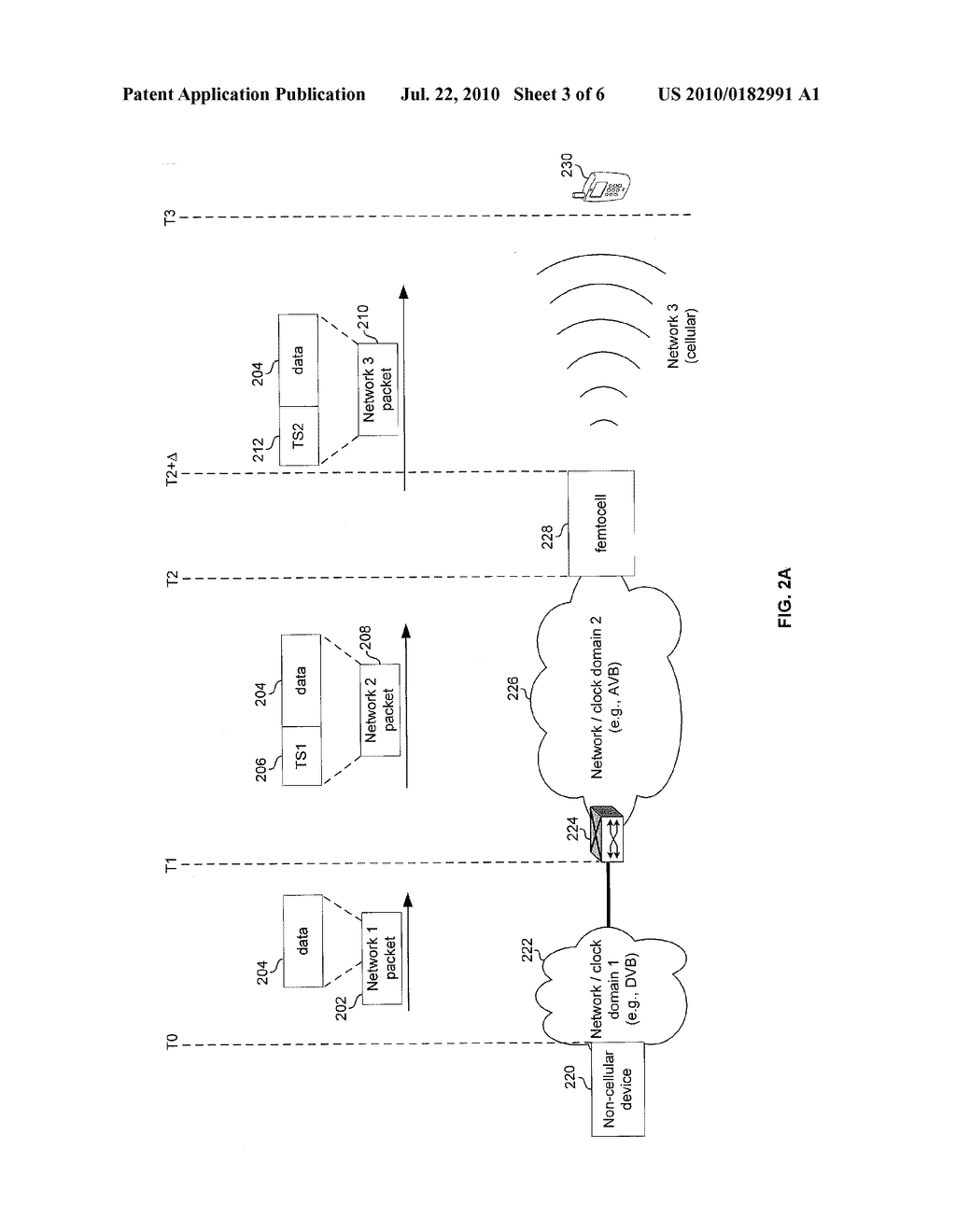 METHOD AND SYSTEM FOR PRESERVING CONTENT TIMING ACROSS FEMTOCELL INTERFACES VIA TIMESTAMP INSERTION - diagram, schematic, and image 04