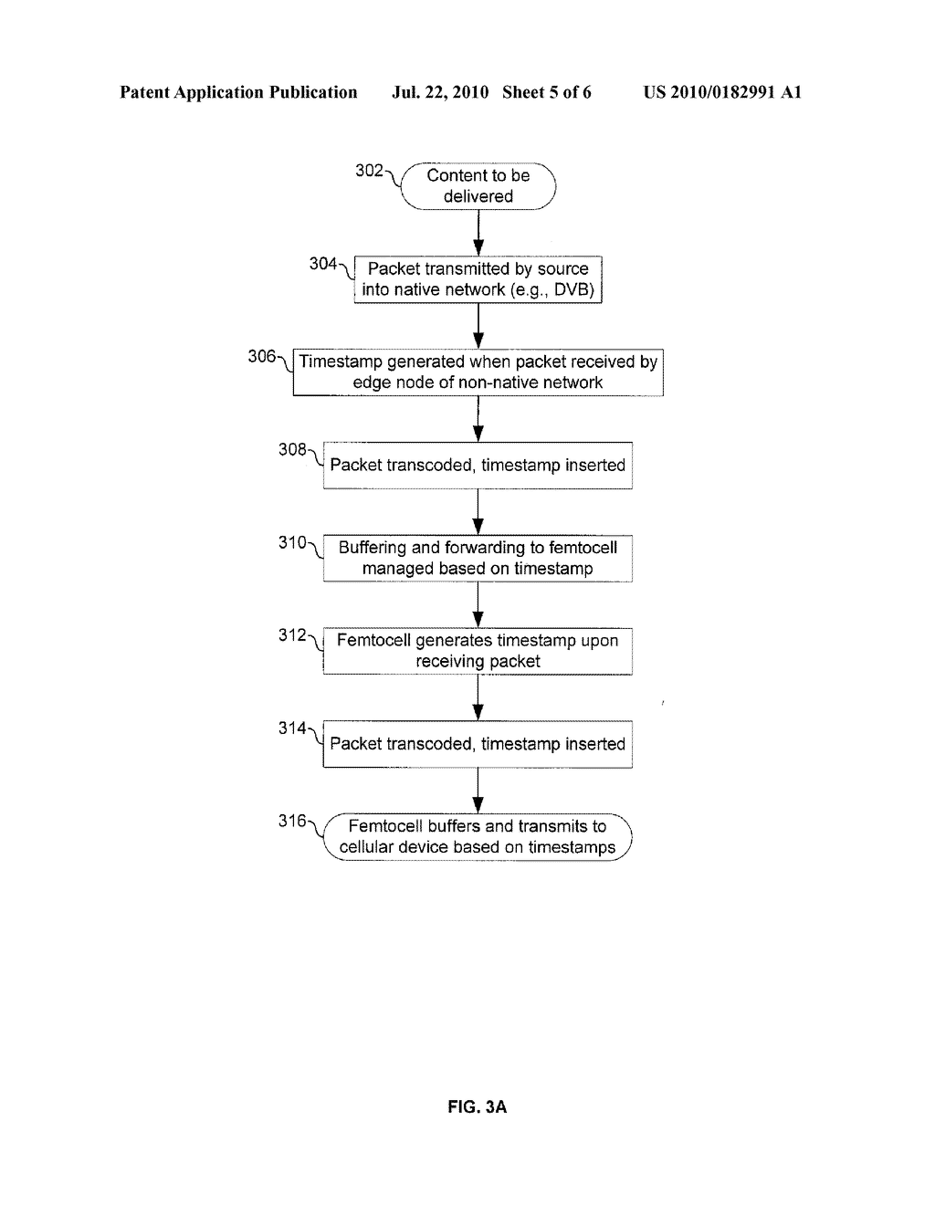 METHOD AND SYSTEM FOR PRESERVING CONTENT TIMING ACROSS FEMTOCELL INTERFACES VIA TIMESTAMP INSERTION - diagram, schematic, and image 06