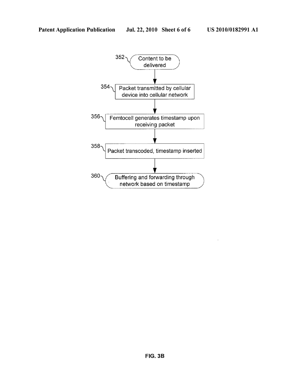 METHOD AND SYSTEM FOR PRESERVING CONTENT TIMING ACROSS FEMTOCELL INTERFACES VIA TIMESTAMP INSERTION - diagram, schematic, and image 07