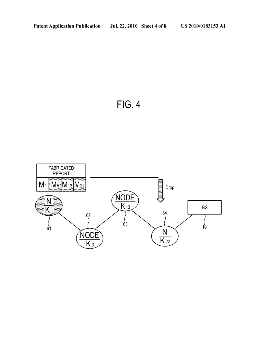 METHOD OF ESTABLISHING ROUTING PATH OF SENSOR NETWORK FOR IMPROVING SECURITY AND SENSOR NODE FOR IMPLEMENTING THE SAME - diagram, schematic, and image 05