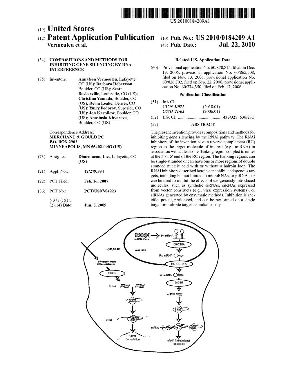 COMPOSITIONS AND METHODS FOR INHIBITING GENE SILENCING BY RNA INTERFERENCE - diagram, schematic, and image 01