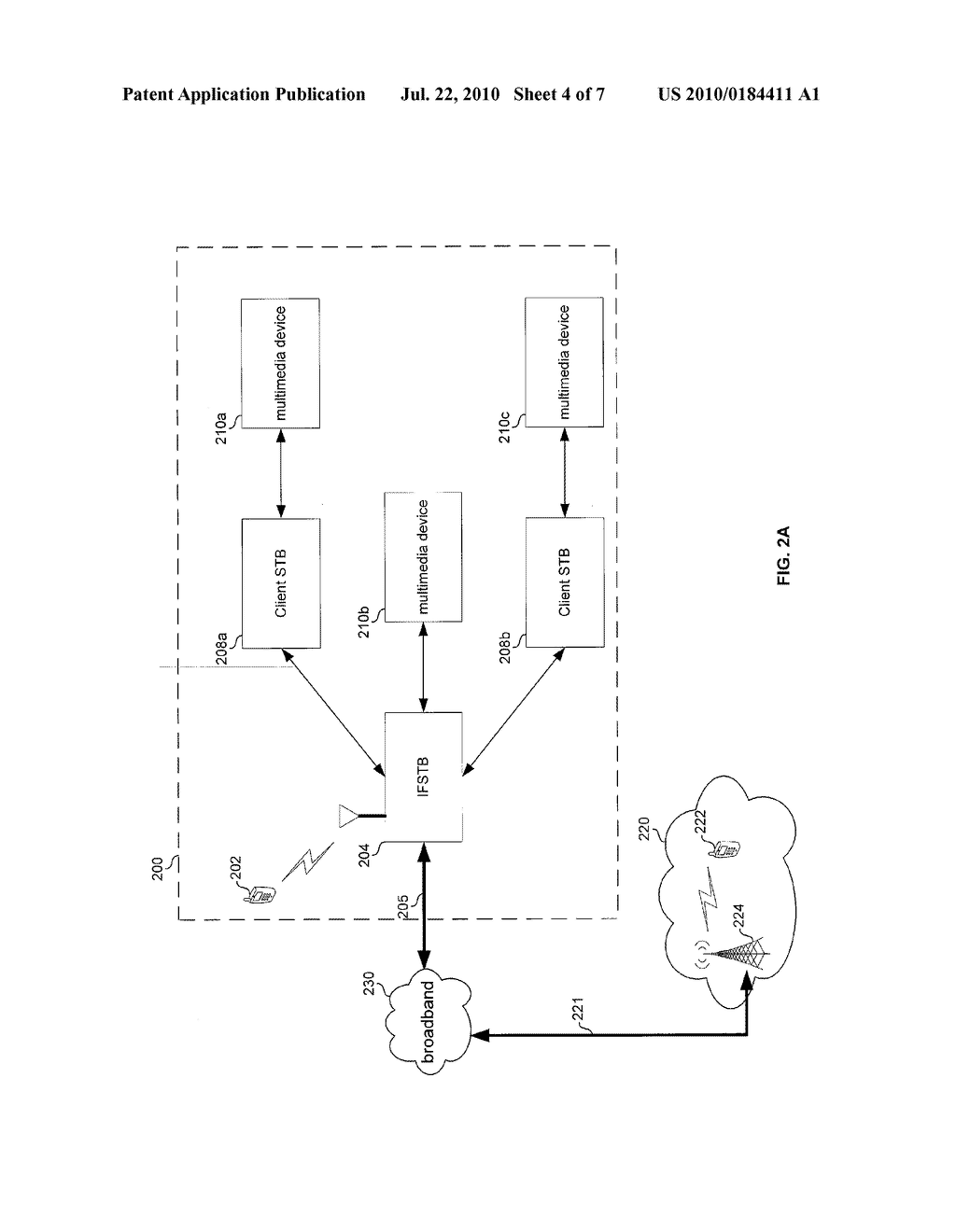 METHOD AND SYSTEM FOR CONTROLLING DATA DISTRIBUTION VIA CELLULAR COMMUNICATIONS UTILIZING AN INTEGRATED FEMTOCELL AND SET-TOP-BOX DEVICE - diagram, schematic, and image 05