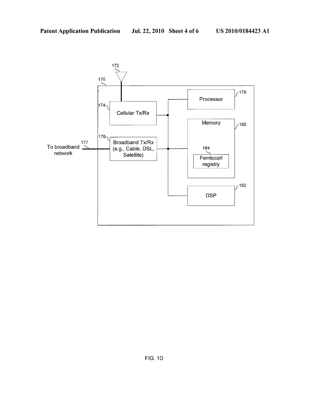 METHOD AND SYSTEM FOR INSTALLATION AND CONFIGURATION OF A FEMTOCELL - diagram, schematic, and image 05