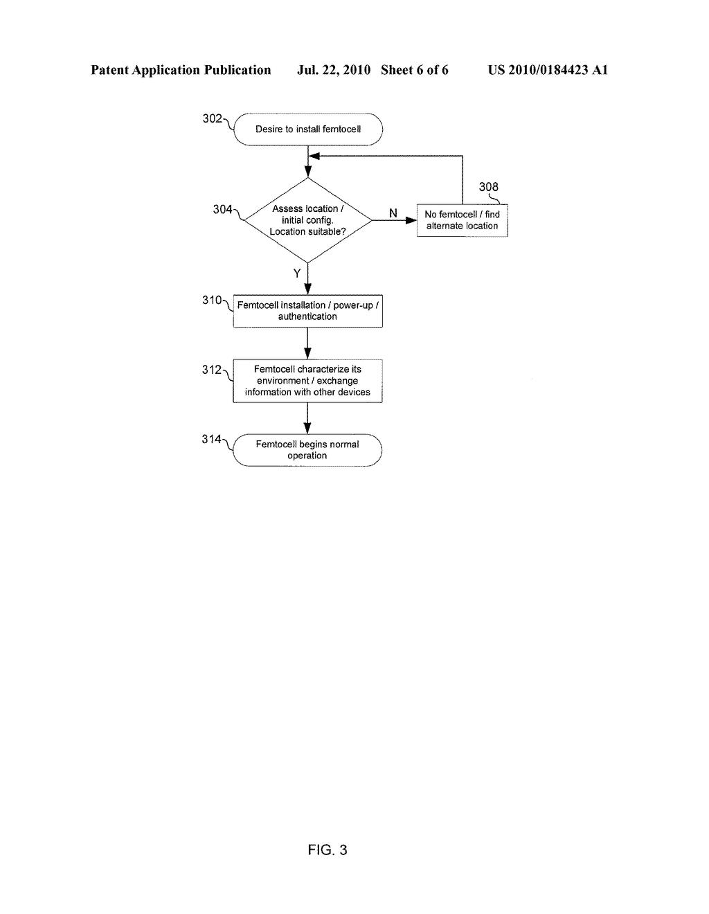 METHOD AND SYSTEM FOR INSTALLATION AND CONFIGURATION OF A FEMTOCELL - diagram, schematic, and image 07