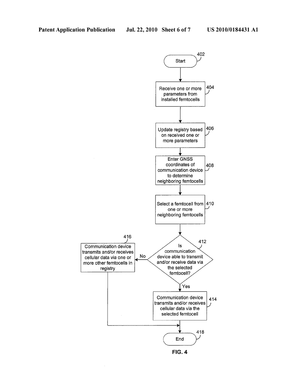 Method and System for Registering Femtocells to Provide Service - diagram, schematic, and image 07