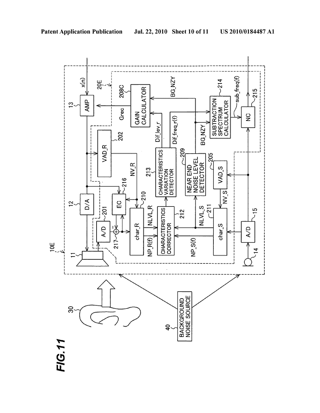 Sound signal adjustment apparatus and method, and telephone - diagram, schematic, and image 11