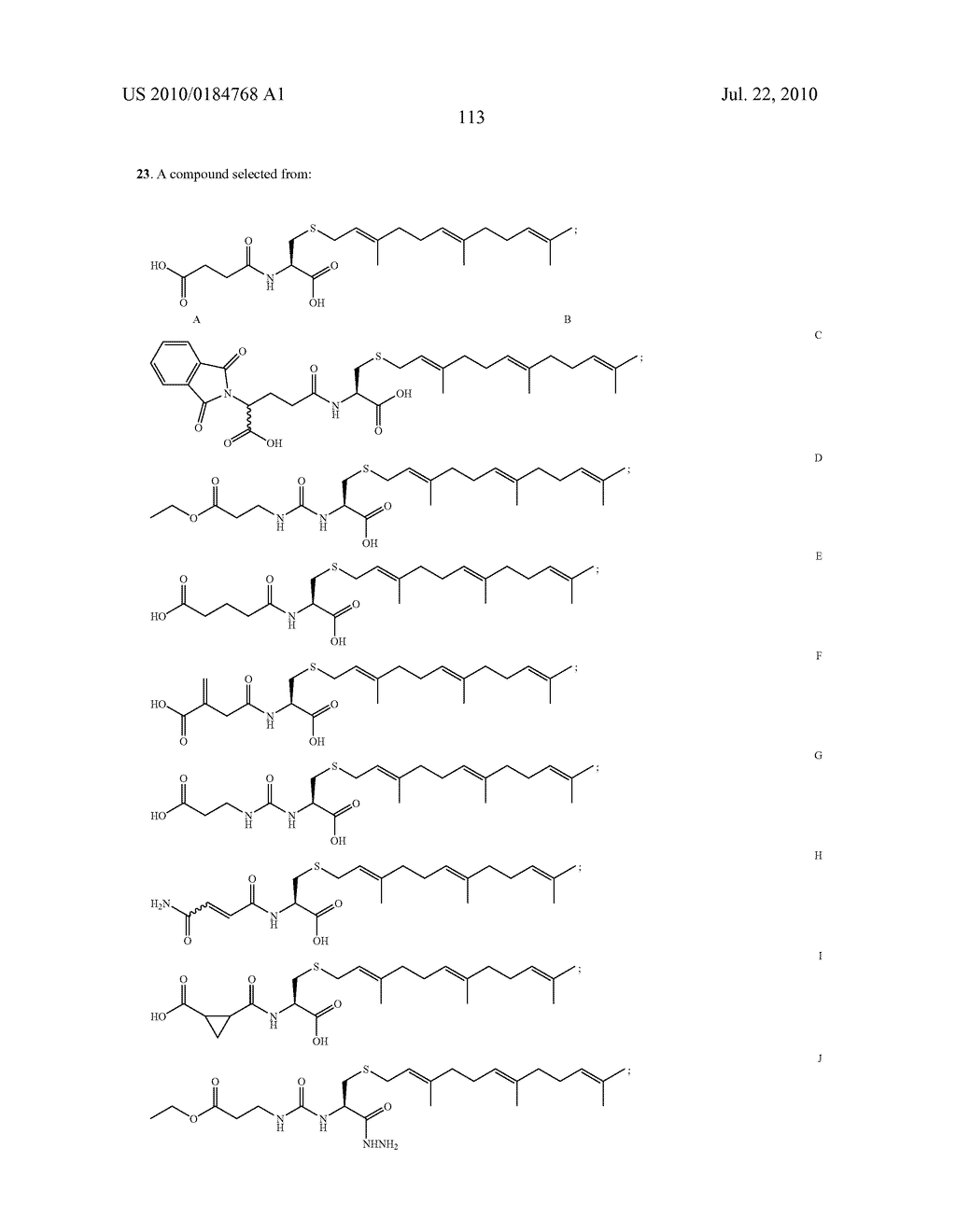 Isoprenyl Compounds and Methods Thereof - diagram, schematic, and image 128