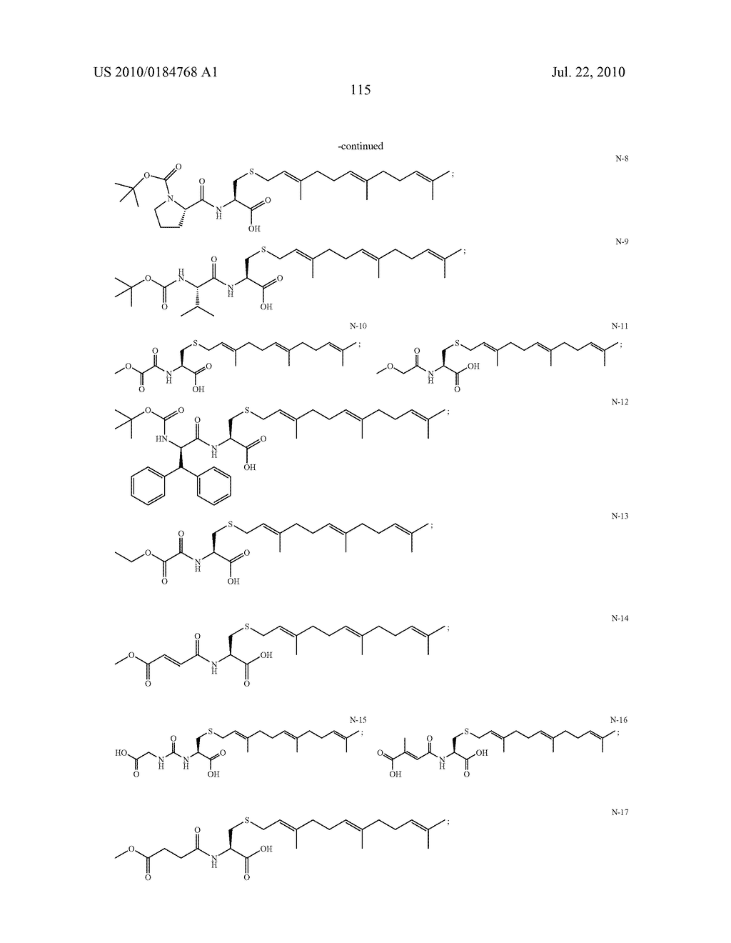 Isoprenyl Compounds and Methods Thereof - diagram, schematic, and image 130