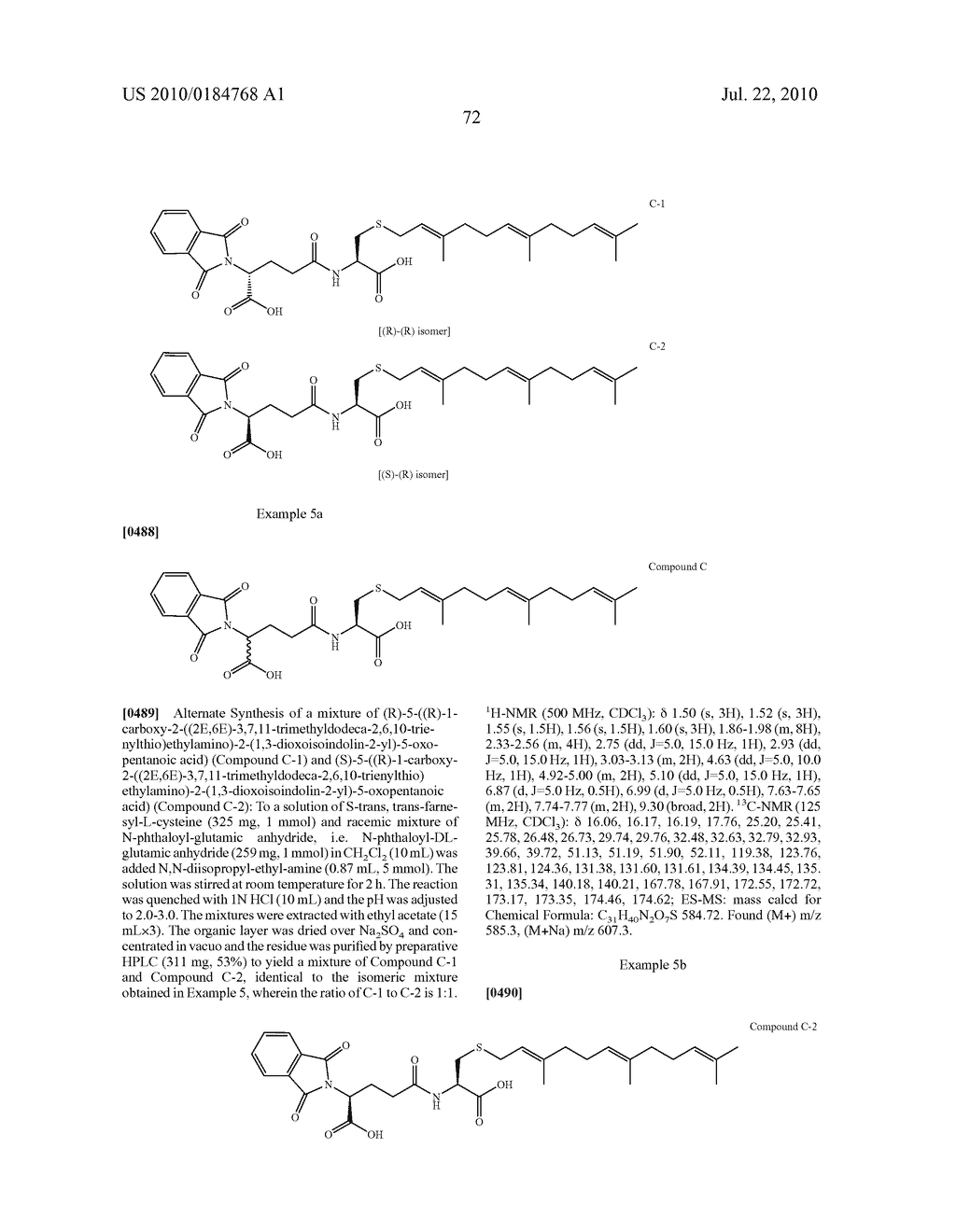 Isoprenyl Compounds and Methods Thereof - diagram, schematic, and image 87